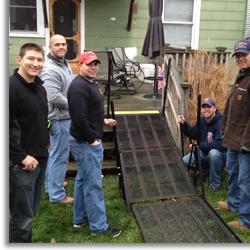 norwood firefighters association wheelchair ramp charity